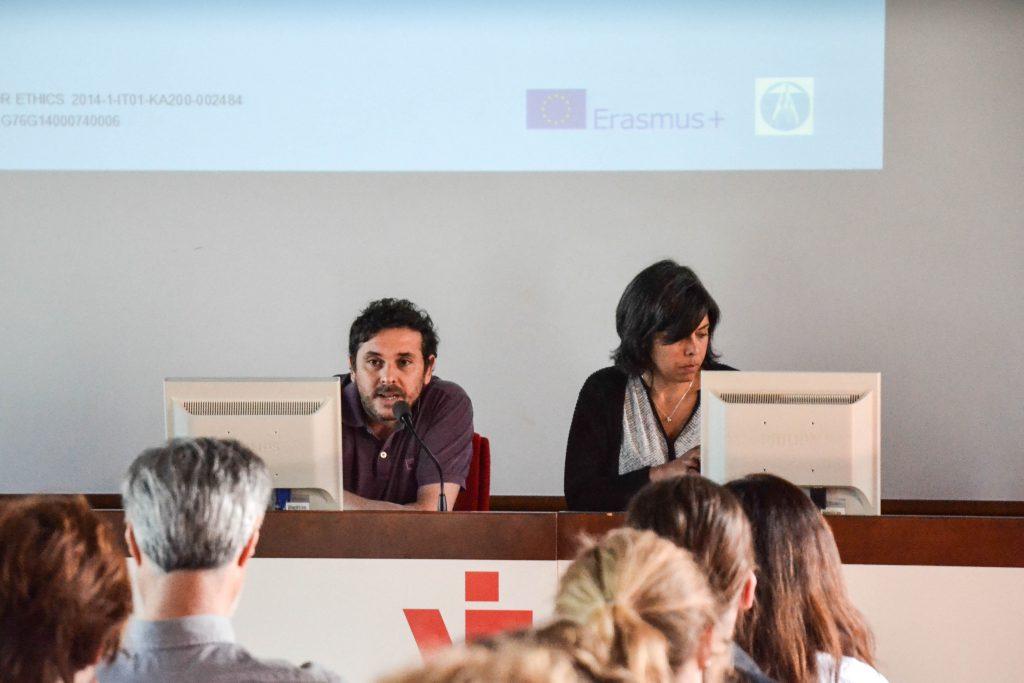 Lorenzo Latini, per Oikos Onlus, e Andreia Soares per Rosto Solidario