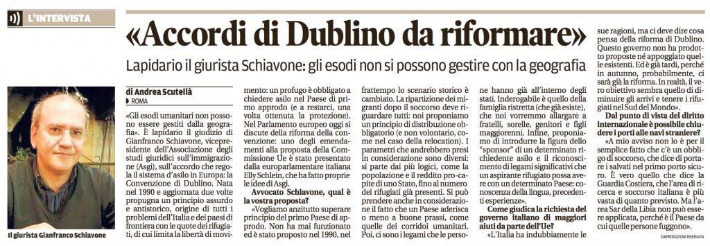 Intervista a Gianfranco Schiavone sulla riforma del trattato di Dublino